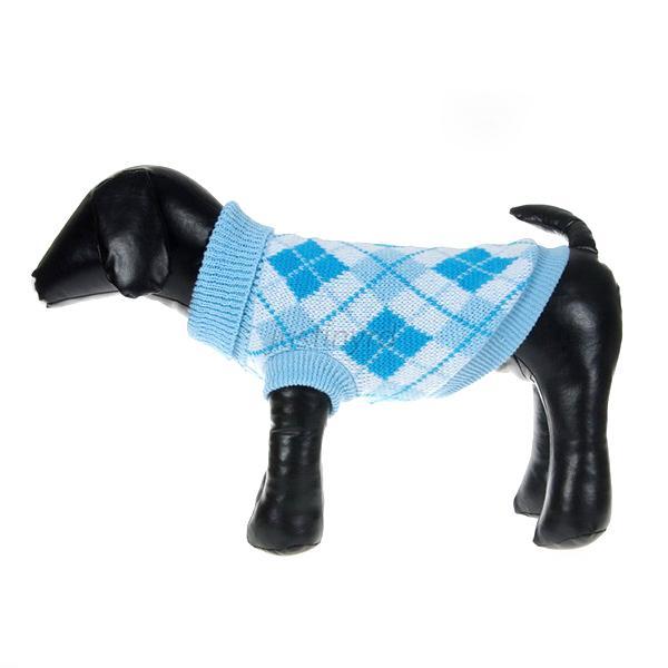 Xl Dog Sweater Knitting Pattern : Pet dogs cat plaid pattern knit sweater small dog coat