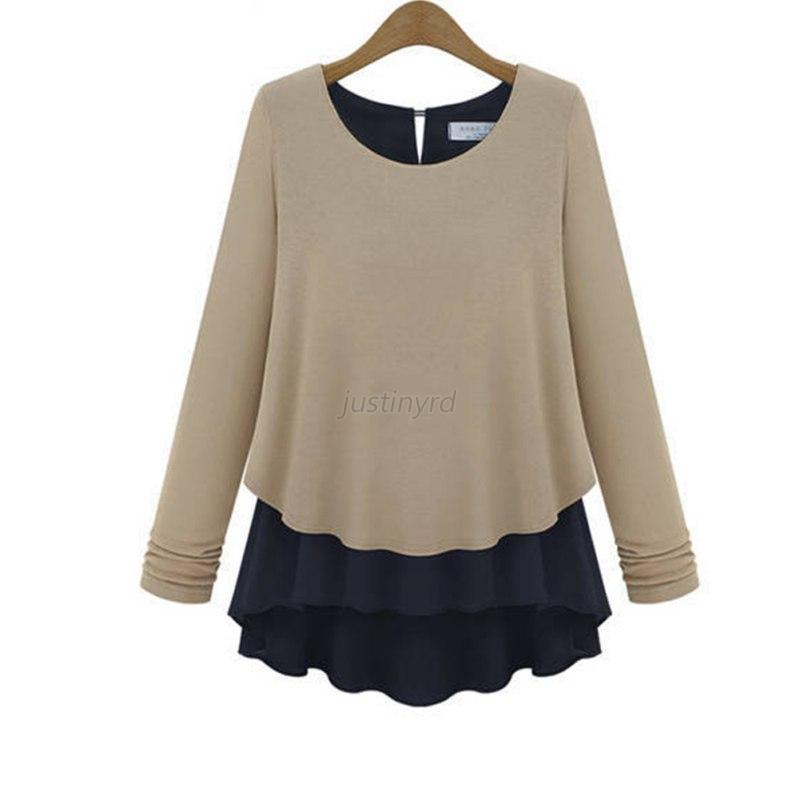 Trendy women ladies casual long sleeve t shirt blouse for Trendy t shirts for ladies