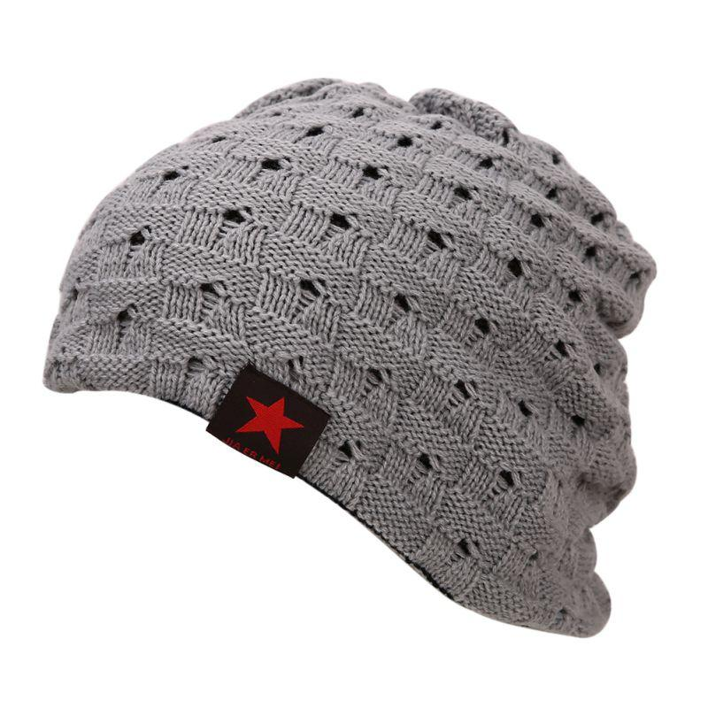 cool mens knit hats caps reversible baggy cap skull chunky