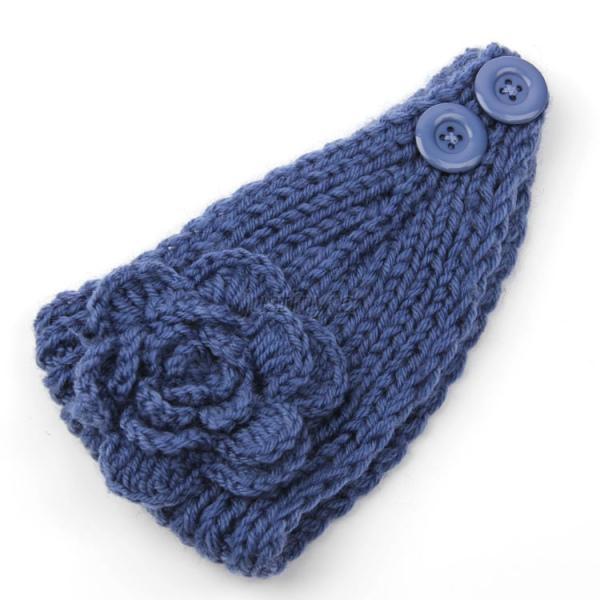 Womens Flower Crochet Knit Knitted Headwrap Headband Ear ...