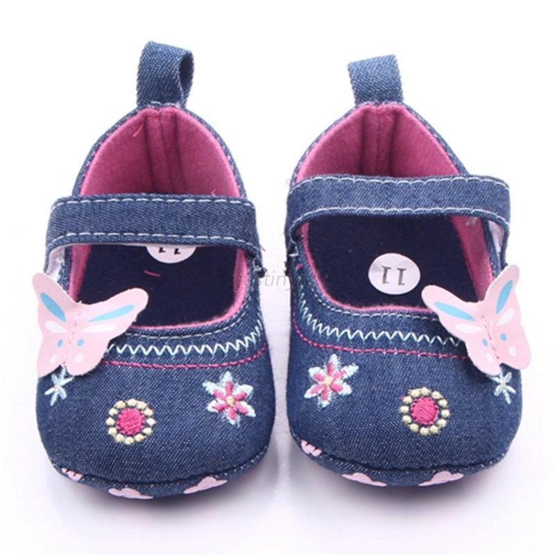New Toddler Infant Baby Girl Flower Shoes Crib Shoes ...