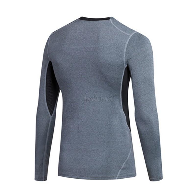 Mens Long Sleeve Compression Base Layer Sports Wear T