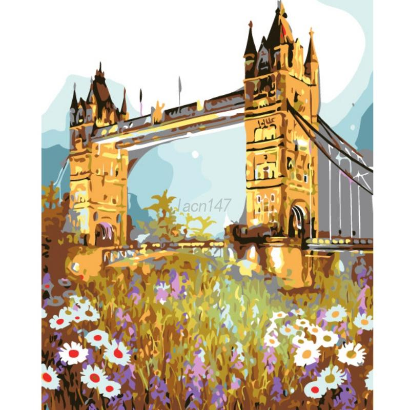 No Framed Paint By Number Kit Oil Painting Landscape Home Wall Art ...