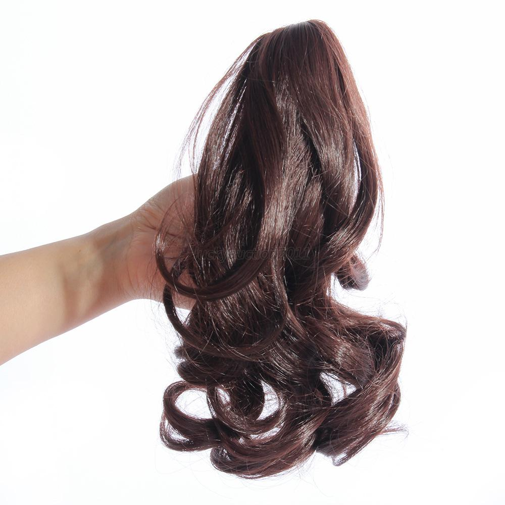 Women hairpiece short wavy curly claw hair ponytail clip on hair women hairpiece short wavy curly claw hair ponytail pmusecretfo Choice Image