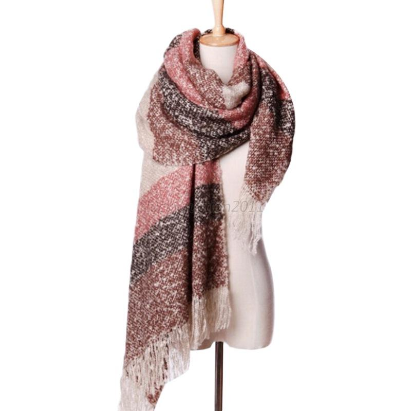 winter thick warm wool stole scarves scarf
