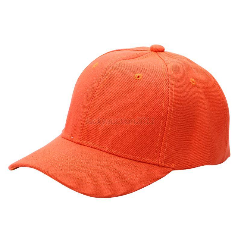 New Plain Solid Washed Cotton Polo-Style Baseball Ball Cap ...
