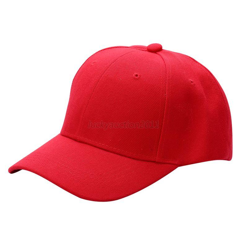 New Plain Baseball Cap Solid Color Trucker Blank Curved ...