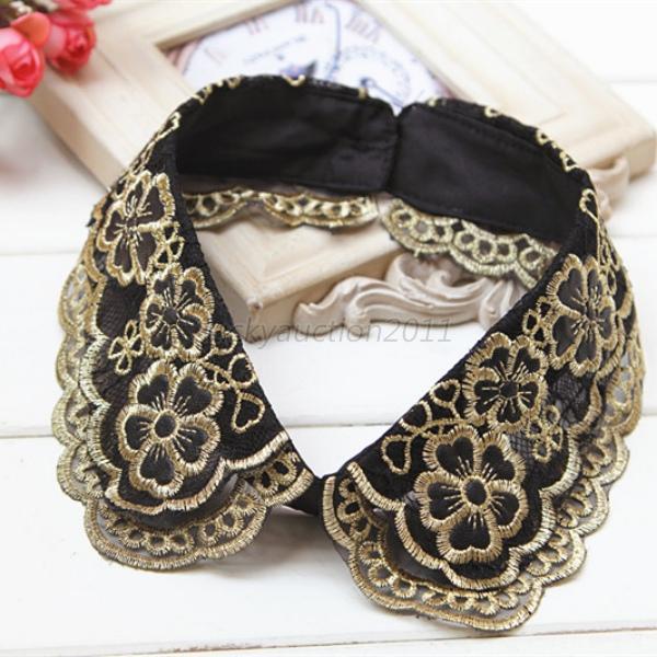 14 Style Cotton Removable Choker Detachable Fake Lapel Shirt Collar Necklace L51