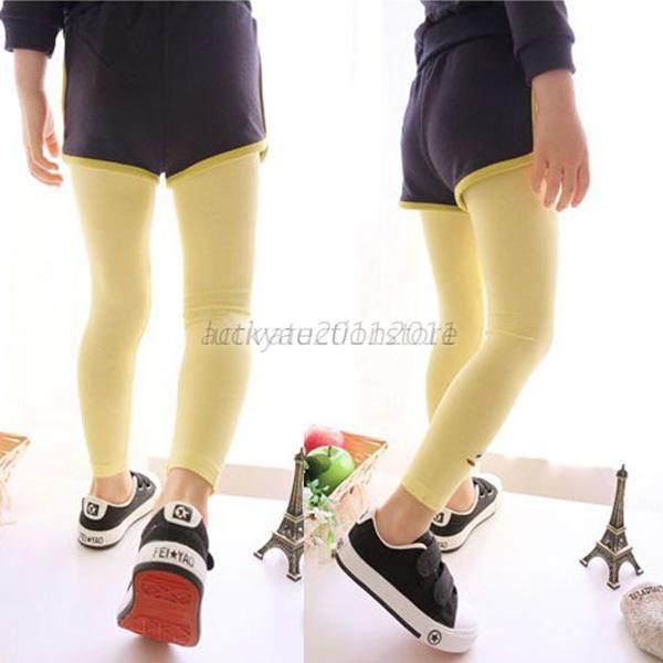 enfant petite fille coton leggings multicolore pantalons collant lastique ebay. Black Bedroom Furniture Sets. Home Design Ideas