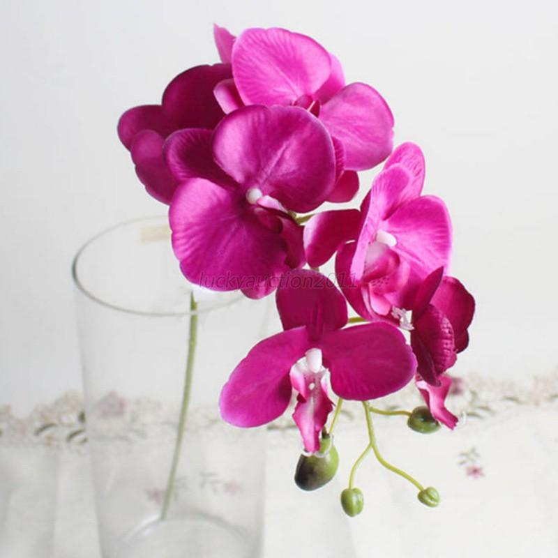 Artificial Butterfly Orchid Silk Flower Bouquet Phalaenopsis Wedding ...