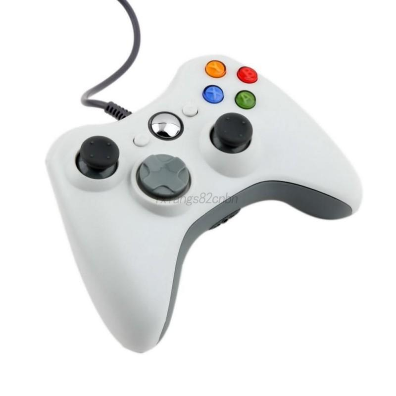 Black/White Wired Gaming Pad Controller USB Joypad