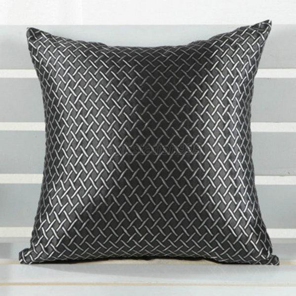 Square Throw Pillow Cases : Square Throw Pillow Case Cover Grid Pattern Home Sofa Decor Cushion Shell eBay