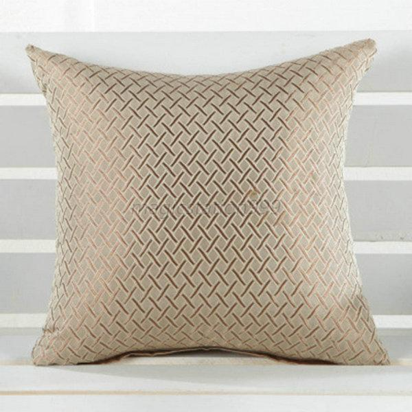 Square Throw Pillow Case Cover Grid Pattern Home Sofa