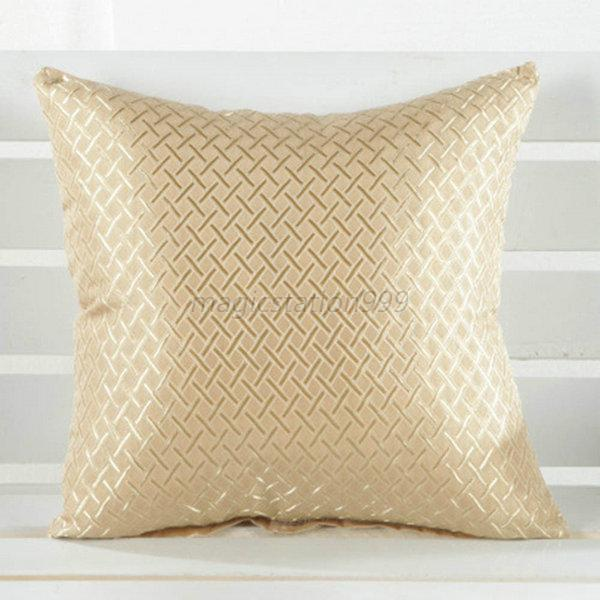 Square Throw Pillow Cover : Square Throw Pillow Case Cover Grid Pattern Home Sofa Decor Cushion Shell eBay