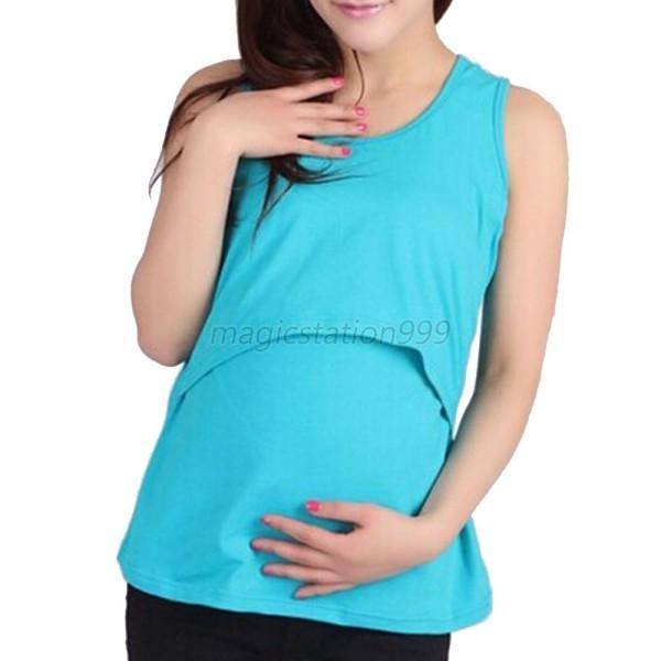 Maternity Women Nursing Vest Tops Clothes Pregnant ...