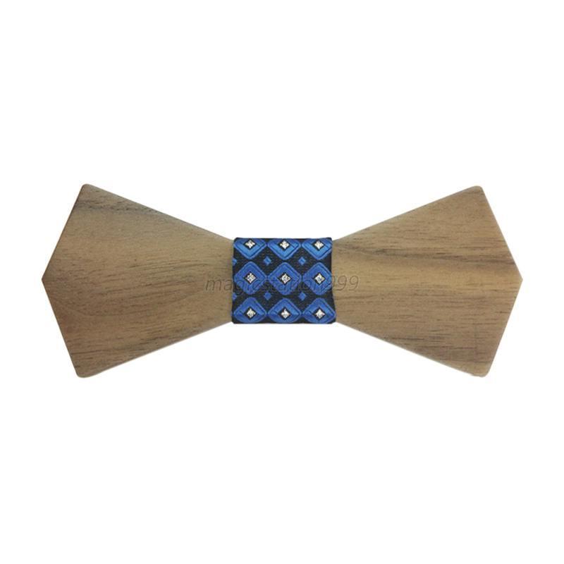 retro handmade wood bow tie hardwood butterfly bow
