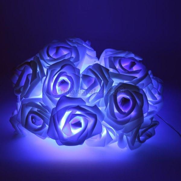 xmas string lights rose flower fairy 20 led indoor party