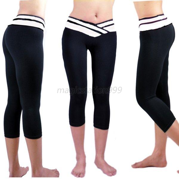 Femme-Fitness-Gym-Sport-pantalon-collant-Leggings-Haute-Taille-Bodycon-Yoga-pant