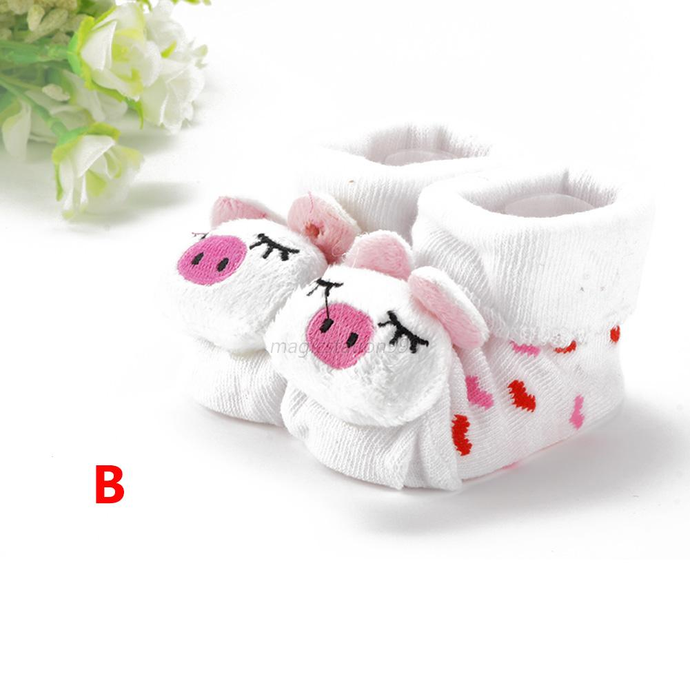 Cartoon Kid Newborn Baby Girl Boy Socks Slipper Shoes ...