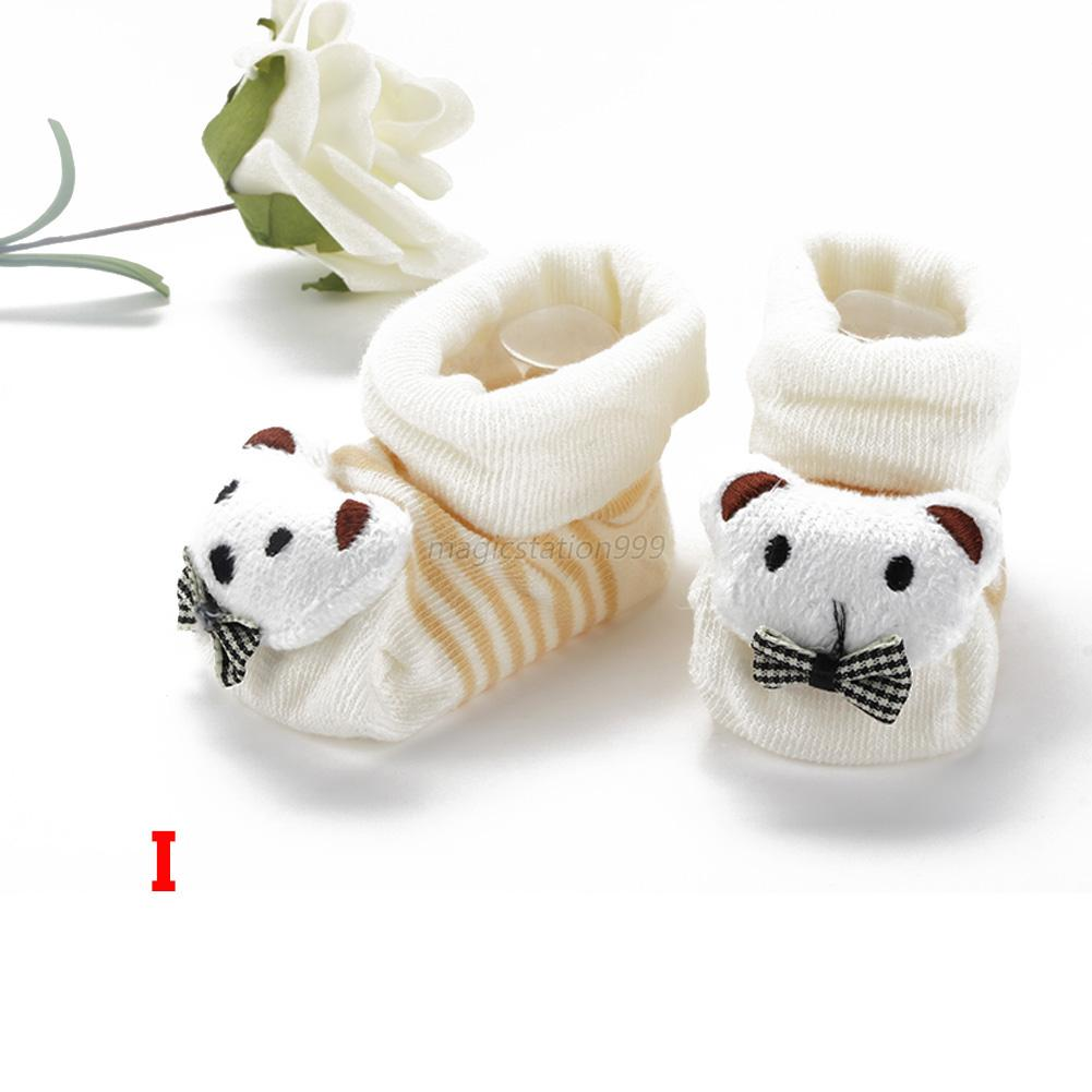 Cartoon Kid Newborn Baby Girl Boy Socks Slipper Shoes