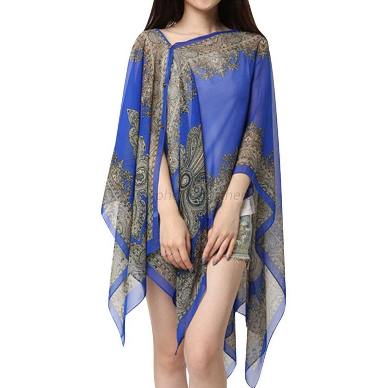 Women Summer Long Sunscreen Soft Chiffon Scarves Shawl ...