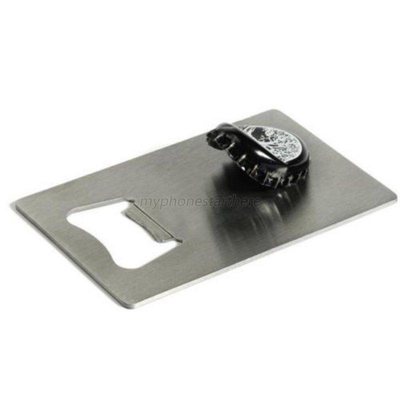 portable stainless steel bottle beer opener wallet size beer credit card size ebay. Black Bedroom Furniture Sets. Home Design Ideas