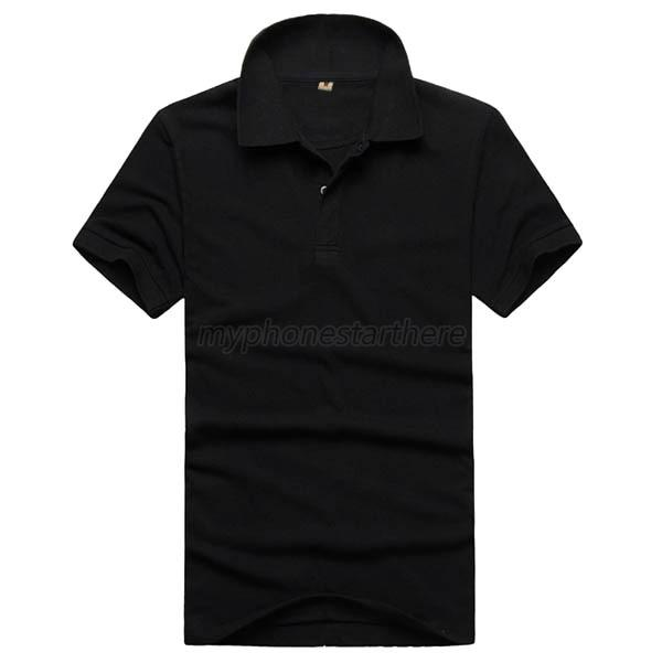 Fashion mens plain polo shirt short sleeve solid color for Solid color short sleeve dress shirts