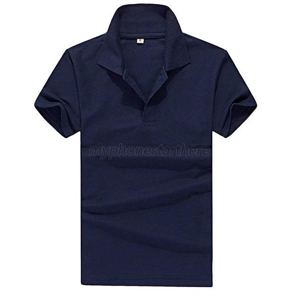 Fashion mens plain polo shirt short sleeve solid color for Mens colored t shirts