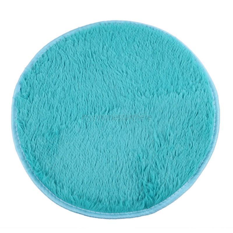 Mat Carpet Puzzle Mat Fluffy Round Rug Non Slip Shower