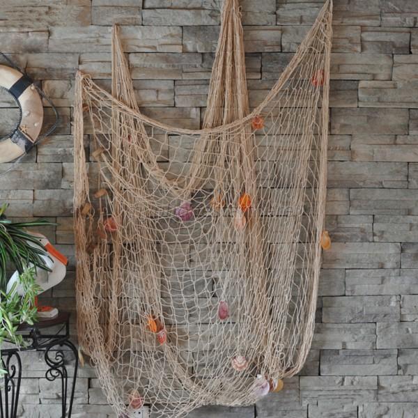 Nautical Fishing Net Seaside Wall Beach Party Sea Shells Home Garden Decor Ebay