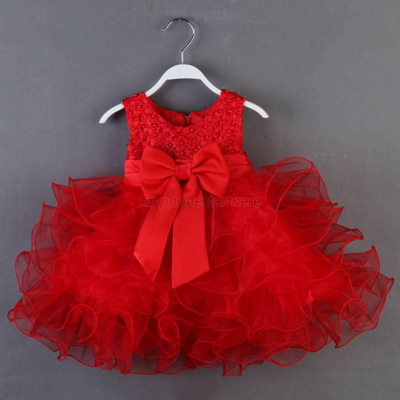 Kids Princess Party Dress Baby Girls Toddler Clothes ...