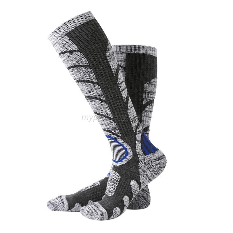 Women-Men-Ski-Socks-Long-Winter-Snow-Socks-Hiking-Walking-Snowboarding-Thermal
