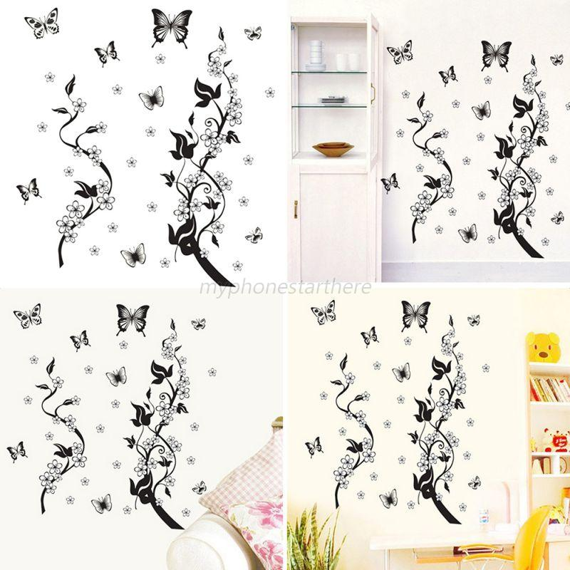 3d diy vinyl various views wall sticker poster mural for Bedroom 3d wall stickers