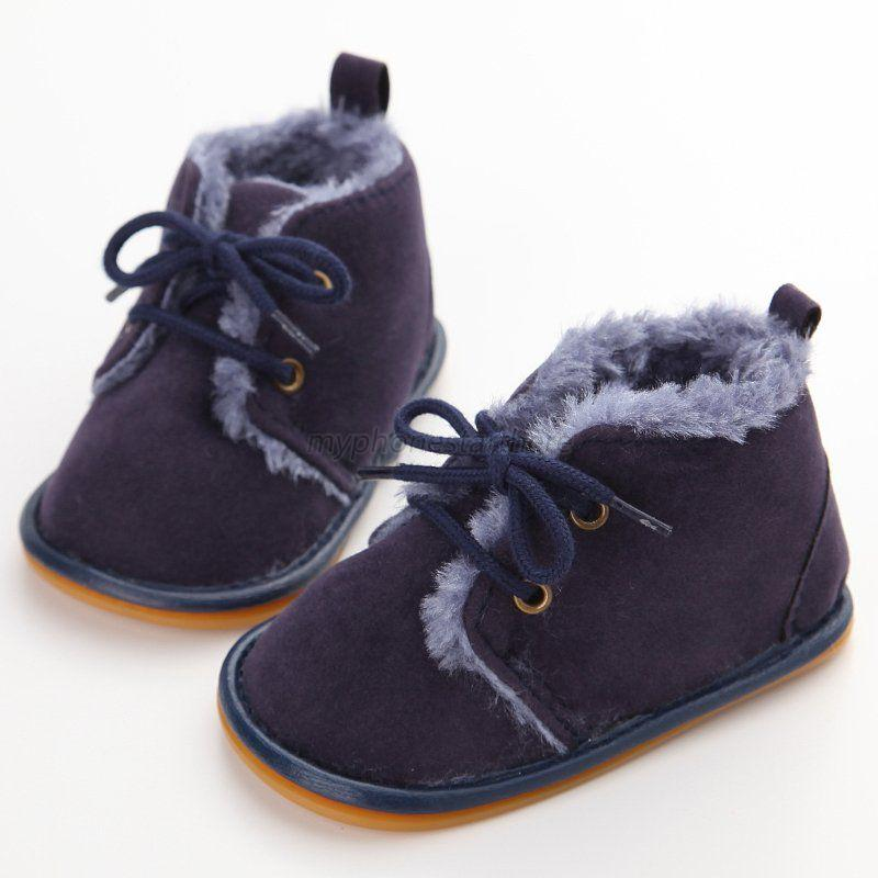 HOT Baby Boy Girl Winter Warm Boots Toddler Kids Soft Crib