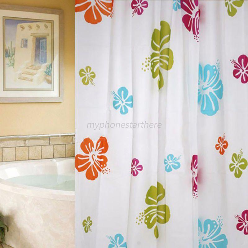 Hot Waterproof  PEVA Shower Curtains Sea Starfish Pattern Bathrooms Mildew Proof