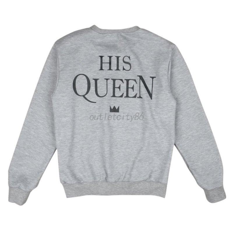 couple lovers matching sweatshirt hoodies king queen. Black Bedroom Furniture Sets. Home Design Ideas