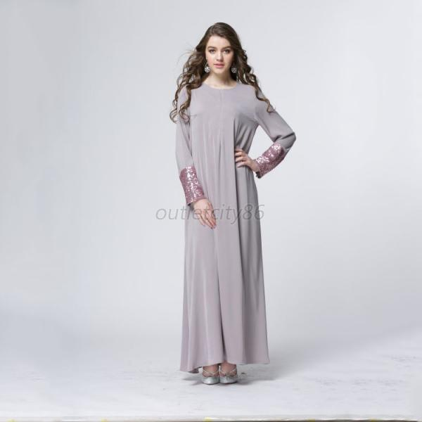 Us Vintage Women Kaftan Abaya Islamic Muslim Dresses Cocktail Party