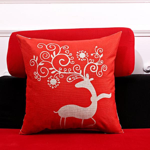 Decorative Christmas Pillows Throws : Christmas Throw Home Decorative Cotton Linen Pillow Case Cushion Cover Decor O90 eBay