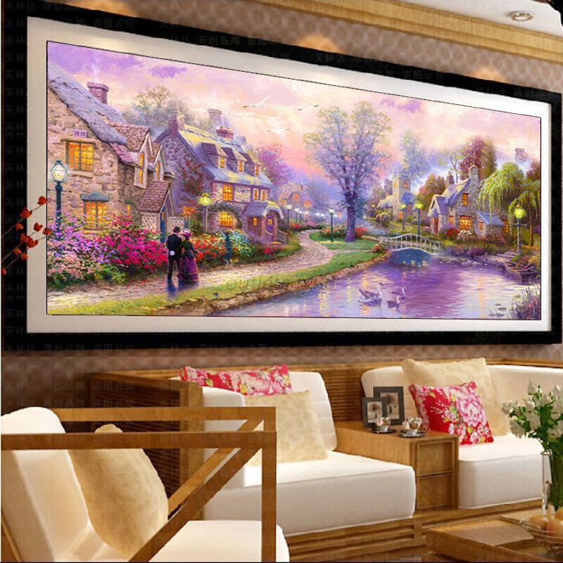 Diy 5d Round Diamond Embroidery Cross Painting Stitch Home