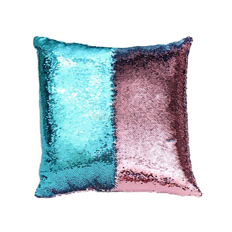 cushion covers throw pillow cases mermaid cover glitter sequ