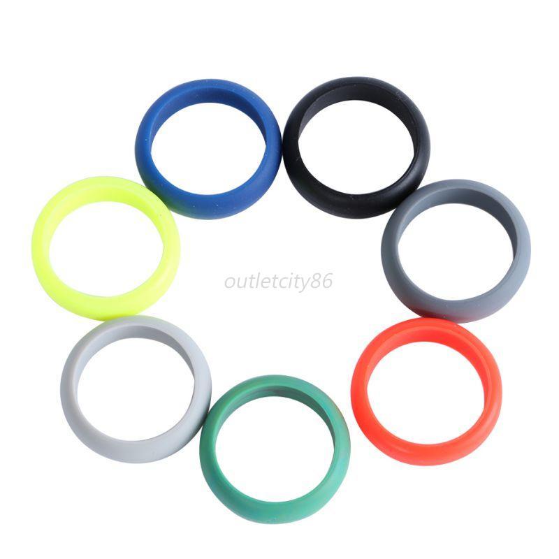 Hypoallergenic Wedding Rings: Color Women Mens Flexible Hypoallergenic Rubber Silicone