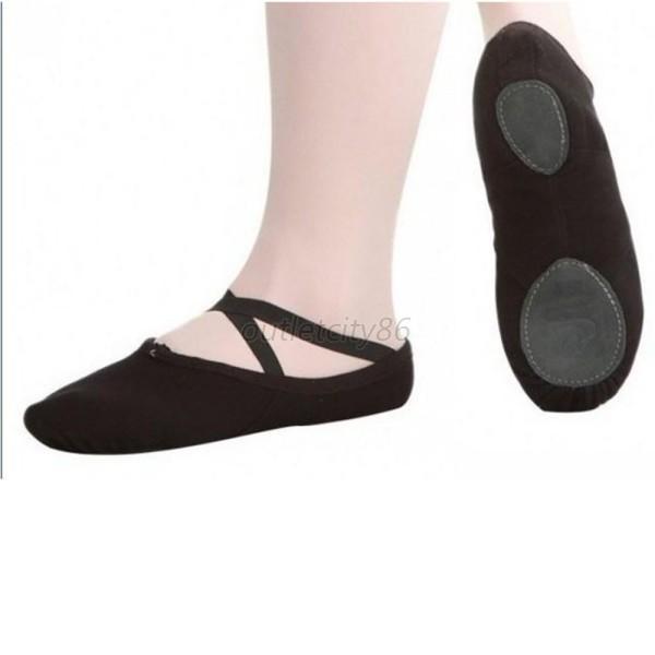 Child Adult Girl Slipper Canvas Ballet Soft Dance Shoes Fitness Gymnastics Shoes