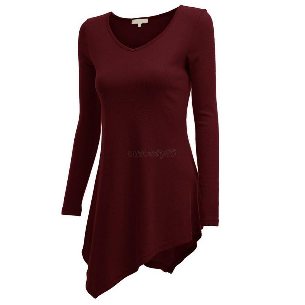Women long sleeve handkerchief hem line lightweight for Lightweight long sleeve shirts women s