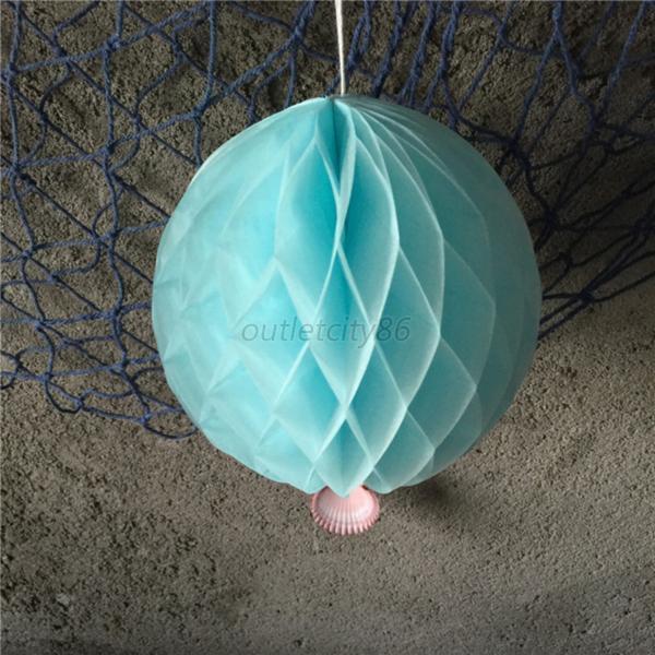 Paper Decoration Balls: Wedding Birthday Party Paper Honeycomb Ball Lanterns