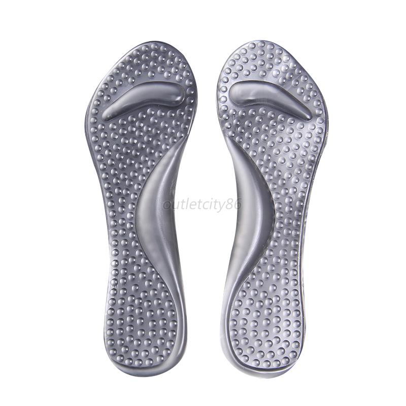 non slip high heels insoles silicone gel pads arch