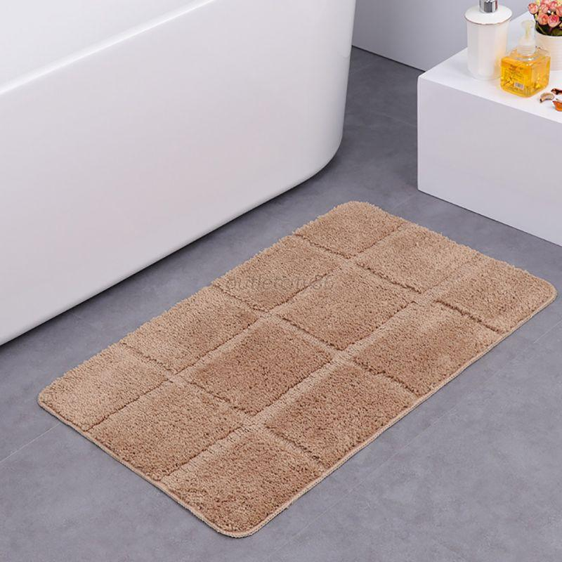 Microfiber bathroom rugs - Fluffy Non Slip Bathroom Shower Lattice Mat Floor Rug