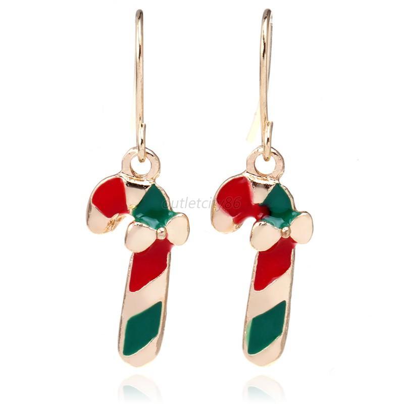 Women earrings ear jewelry charm shiny snowflake dangle