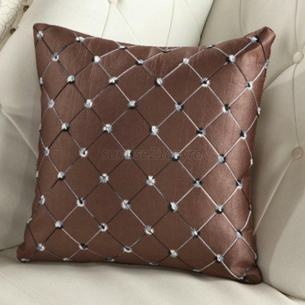Decorative Plaid Pillows : Home Sofa Bed Office Decorative Plaid Throw Pillow Case Cushion Cover Multicolor eBay