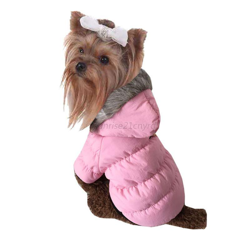 Pets Dogs Puppy Hooded Snow Coat Winter Thick Warm Hoodie ...
