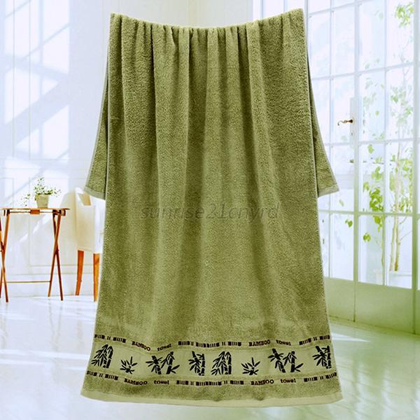 High Quality Absorbent Bamboo Fiber Bath Sheet Soft 27 X 55 Bath Towels U38 Ebay